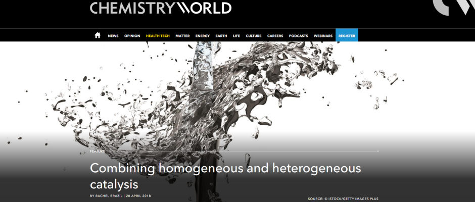 Combining homogeneous and heterogeneous catalysts